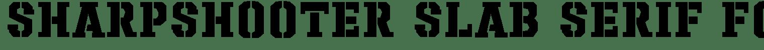 Sharpshooter Slab Serif Font