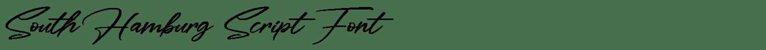 South Hamburg Script Font