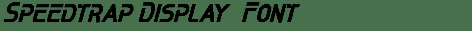 Speedtrap Display  Font