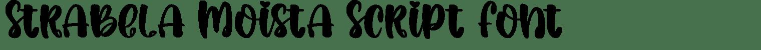 Strabela Moista Script Font