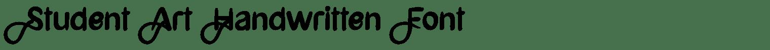 Student Art Handwritten Font