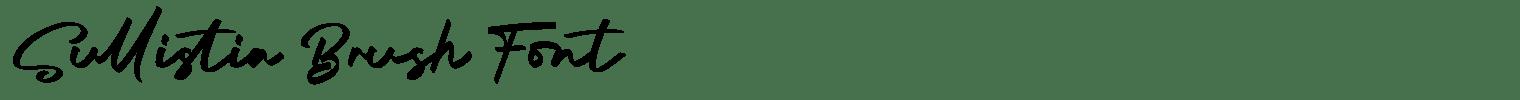 Sullistia Brush Font