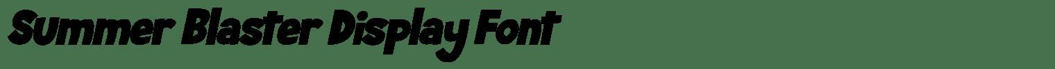 Summer Blaster Display Font