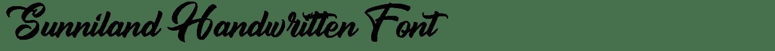 Sunniland Handwritten Font