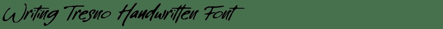 Writing Tresno Handwritten Font