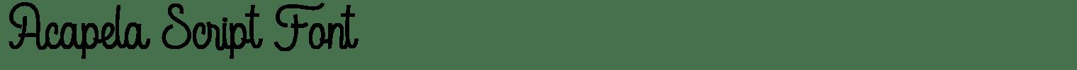 Acapela Script Font