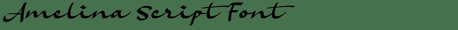 Amelina Script Font