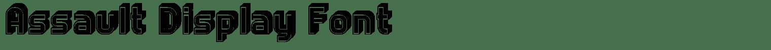 Assault Display Font