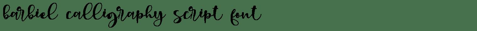 barbiel calligraphy script font
