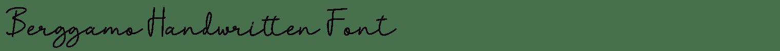 Berggamo Handwritten Font