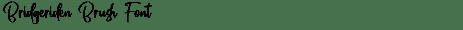 Bridgeriden Brush Font