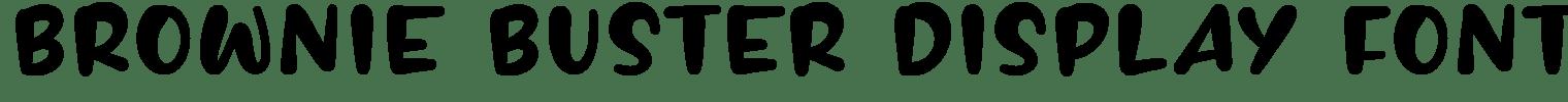BROWNIE BUSTER Display Font