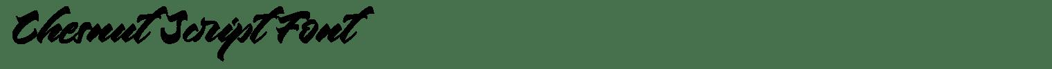 Chesnut Script Font