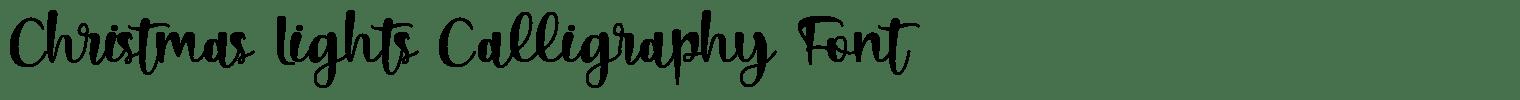 Christmas Lights Calligraphy Font