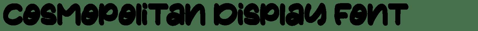 Cosmopolitan Display Font