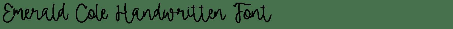 Emerald Cole Handwritten Font