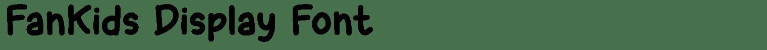 FanKids Display Font