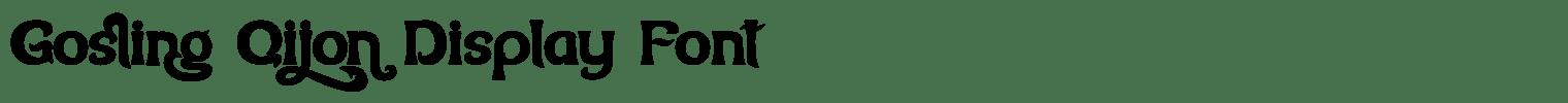 Gosling Qijon Display Font