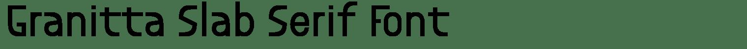 Granitta Slab Serif Font