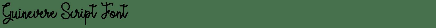 Guinevere Script Font
