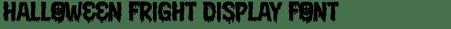 Halloween Fright Display Font