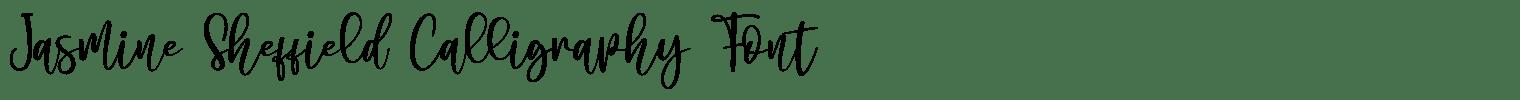 Jasmine Sheffield Calligraphy Font
