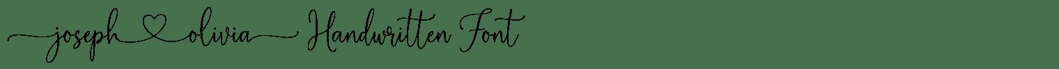 Joseph Olivia Handwritten Font