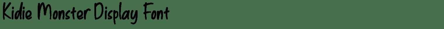 Kidie Monster Display Font