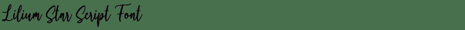 Lilium Star Script Font