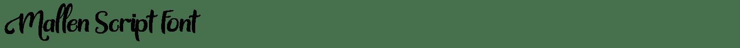 Mallen Script Font