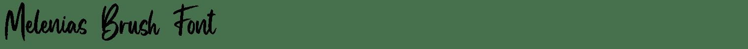 Melenias Brush Font