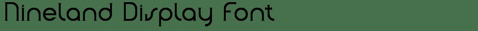 Nineland Display Font