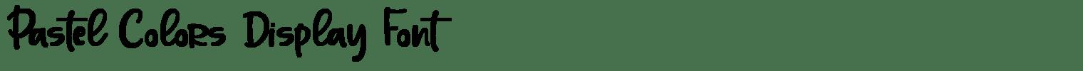 Pastel Colors Display Font
