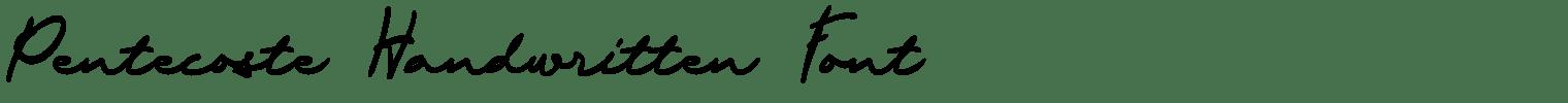 Pentecoste Handwritten Font