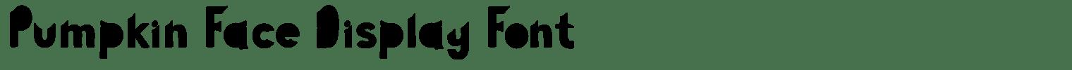 Pumpkin Face Display Font
