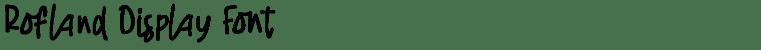 Rofland Display Font
