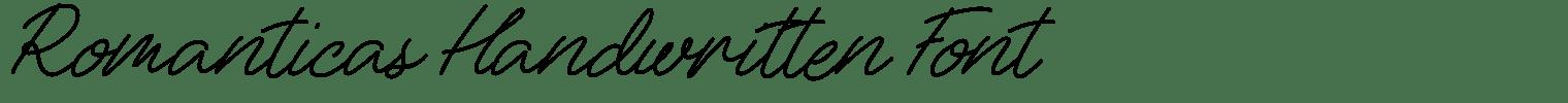 Romanticas Handwritten Font