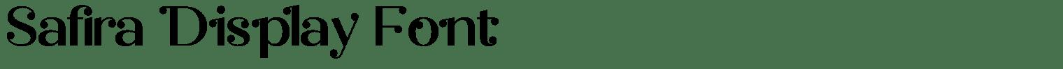 Safira Display Font