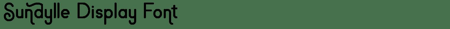 Sundylle Display Font
