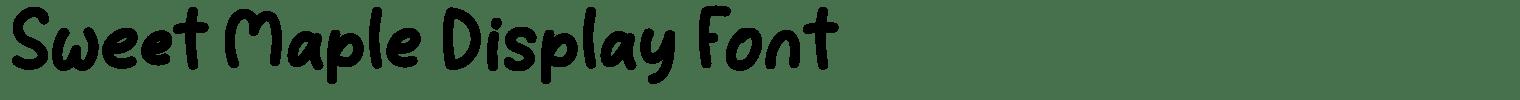 Sweet Maple Display Font