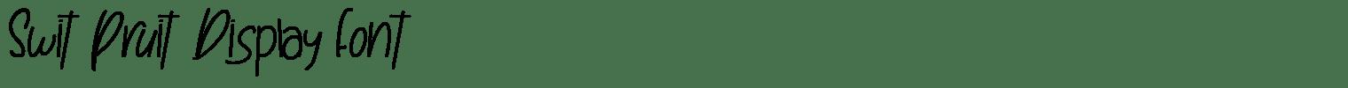 Swit Pruit Display Font