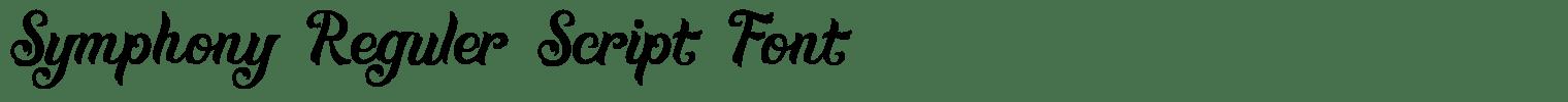Symphony Reguler Script Font