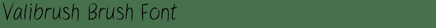 Valibrush Brush Font