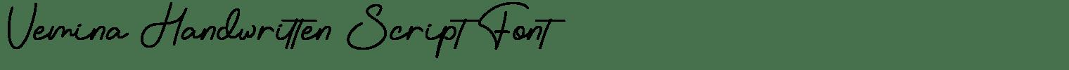 Vemina Handwritten Script Font
