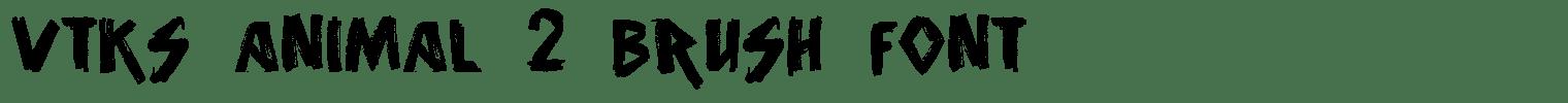 Vtks Animal 2 Brush Font