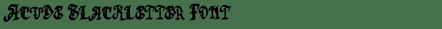 Acude Blackletter Font