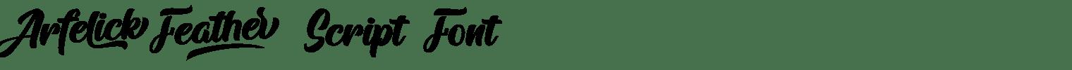 Arfelick Feather Script Font