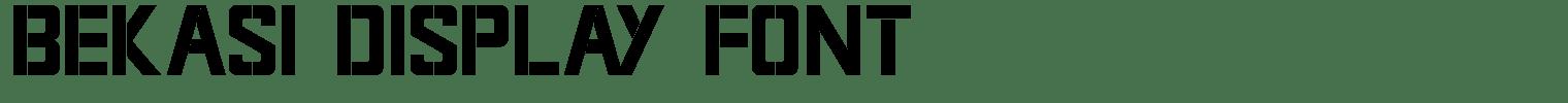 Bekasi Display Font