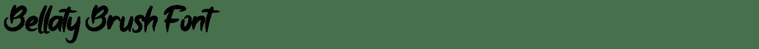Bellaty Brush Font