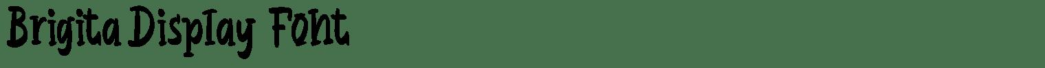 Brigita Display Font